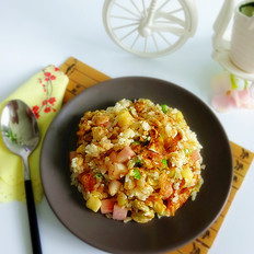 蛋香水果炒饭
