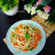 金针菇拌胡萝卜