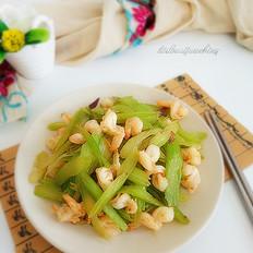 虾仁炒芹菜