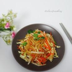 白菜拌黄花菜
