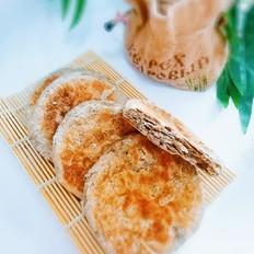 褐麦粉黑芝麻烧饼