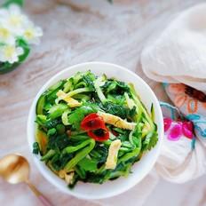 菠菜、黄瓜拌蛋条