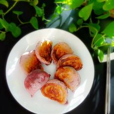 紫薯萝卜水煎饺