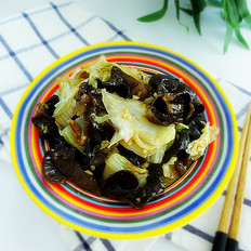 木耳炒白菜