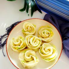 花朵水煎饺
