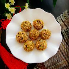 芝麻糯米饭团