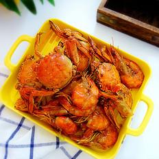 辣炒螃蟹大虾