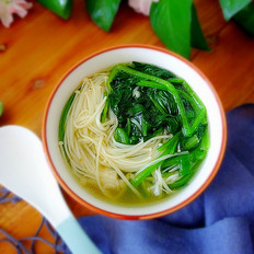 金针菇菠菜汤