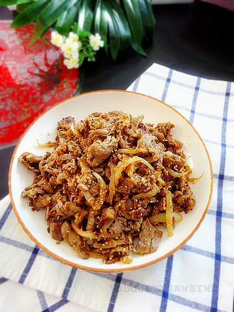 葱香牛肉的做法
