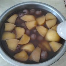 红豆龙眼煮苹果