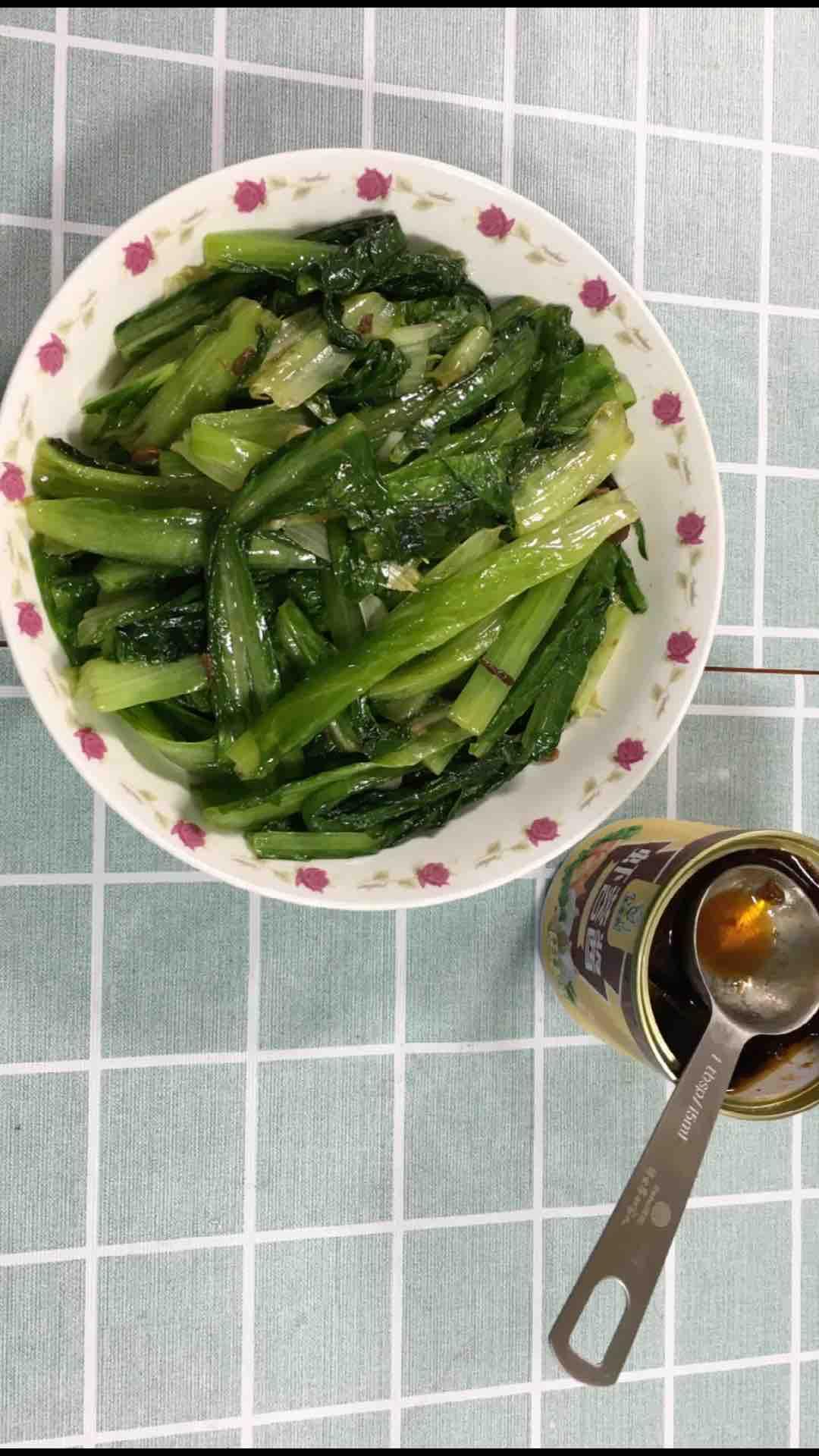 油麦菜加这种酱炒不比豆豉鲮鱼油麦菜味道差