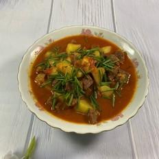 #年味食足#西红柿土豆炖牛腩