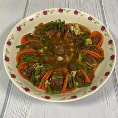 #年味食足#花开富贵之胡萝卜蒸牛肉