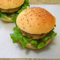 香烤肉排汉堡