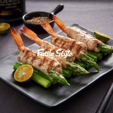 芦笋鲜虾猪肉卷
