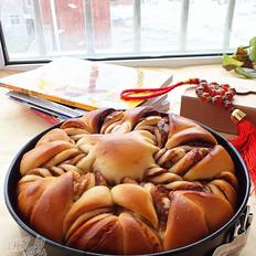 巧克力花型面包