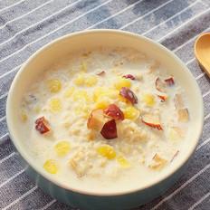 微波炉红枣牛奶麦片粥
