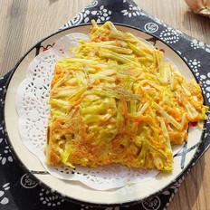 蒜黄胡萝卜丝蛋饼
