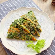 芹菜叶胡萝卜早餐饼