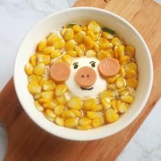 粉小猪鱿鱼玉米面