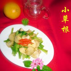 芹菜炒杏鲍菇