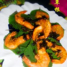 苏子叶炸大虾