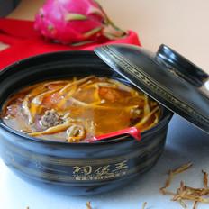 西红柿牛肉黄花菜汤
