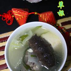 排骨海鲜豆腐汤