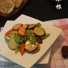 炒五香豆腐卷