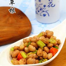 凉拌花生米咸菜