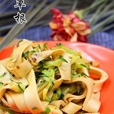 凉拌黄瓜干豆腐的做法
