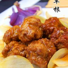 洋葱熘肉丸