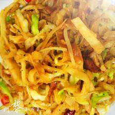肉丝蔬菜炒饼