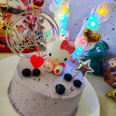 蓝莓果酱奶油蛋糕的做法