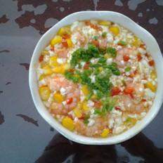 虾仁玉米豆腐羹