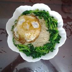 青菜鸡蛋面