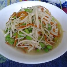 茭白胡萝卜炒毛豆