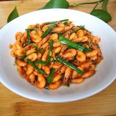 蒜叶炒河虾