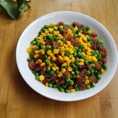 豌豆玉米炒腊肠