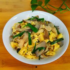 姬菇蒜叶炒鸡蛋