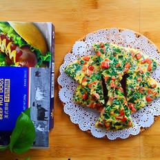 香肠韭菜虾皮鸡蛋饼