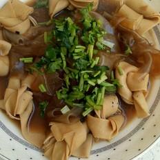 鸡汤炖干豆腐扣粉皮