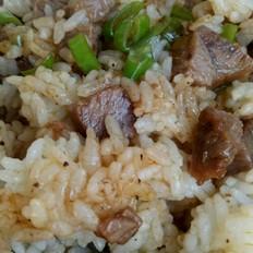 黑椒肉丁炒饭