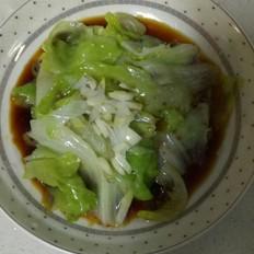 白灼西生菜