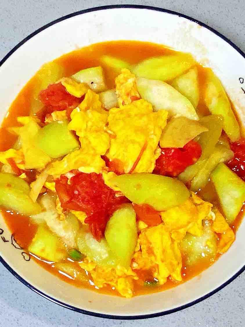 【孕妇食谱】番茄丝瓜炒鸡蛋,酸酸甜甜,营养全面~