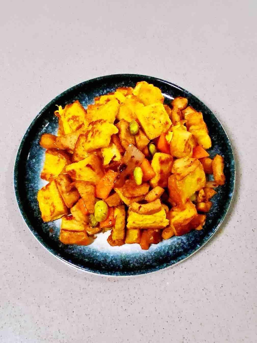 【孕妇食谱】孜然鸡胸吐司丁,浓郁的烧烤香,色泽金黄,好吃到停不下来~