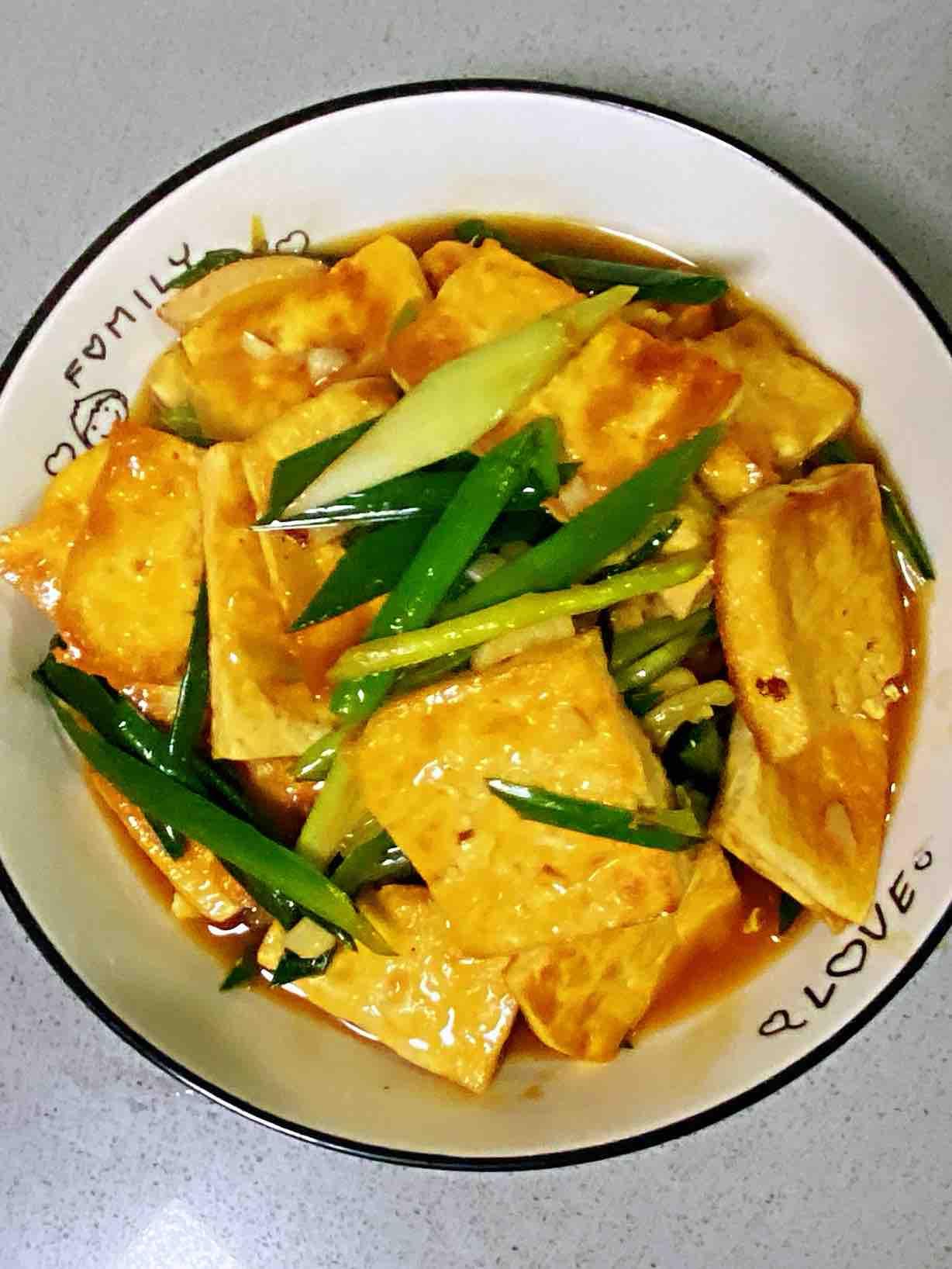 【孕妇食谱】鲍汁豆腐烧青蒜,鲜味浓郁,超级下饭~