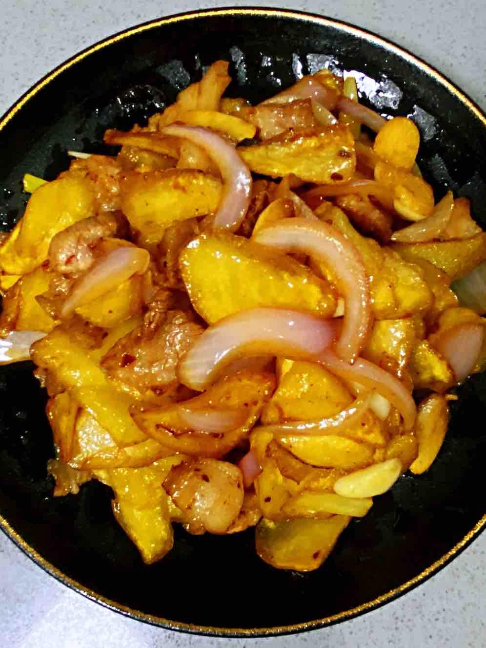 【孕妇食谱】干锅土豆片,鲜香美味,超级下饭,比红烧肉还过瘾~