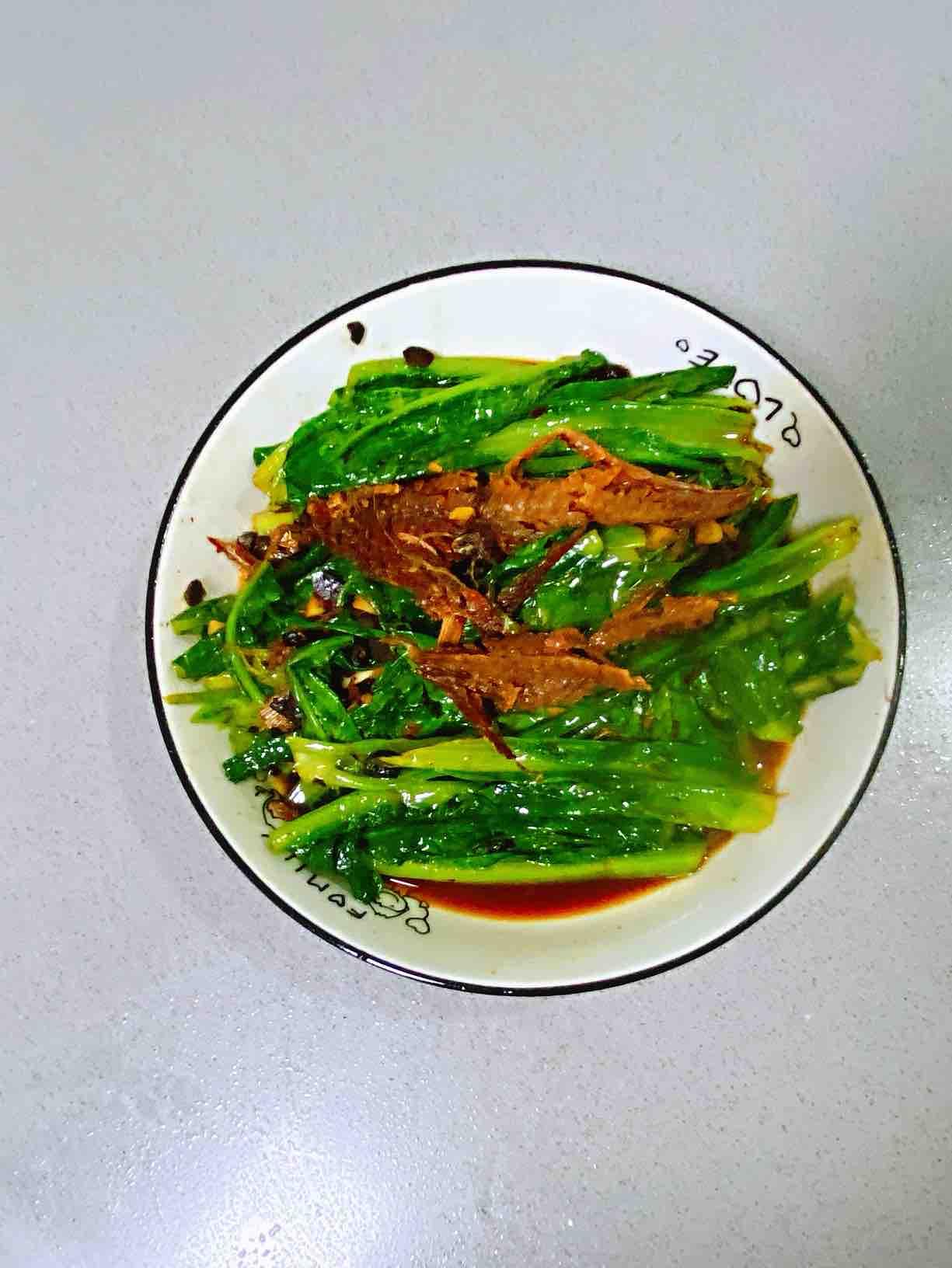 【孕妇食谱】豆豉鲮鱼油麦菜,鲜香扑鼻,美味又下饭~的做法