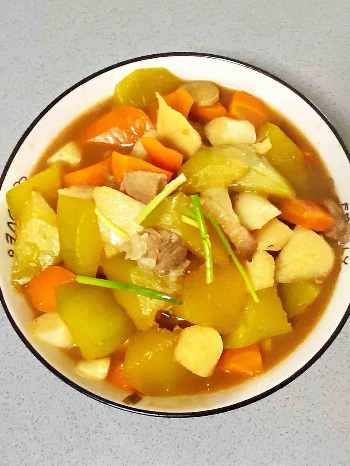 【孕妇食谱】鲍汁茭白焖南瓜,鲜味十足,香甜可口~的做法